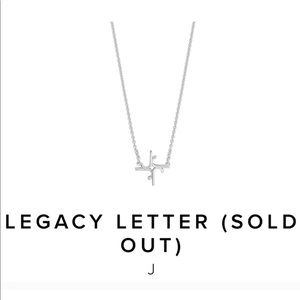 India Hicks Legacy Letter Silver J & R Necklaces